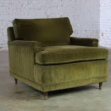 deep green velvet lawson style vintage club chair mid century modern