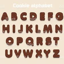 cartoon chocolate cookie font biskvit alphabet food letters stock 1 credit