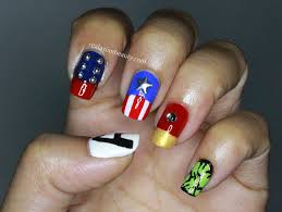 Real Asian Beauty: The Avengers Nail Art (Thor, Captain America ...