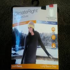 Climateright By Cuddlduds Long Sleeve Crew Nwt