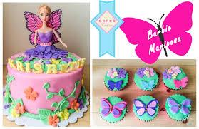 Cupcakes Barbie Design Barbie Mariposa Cake And Cupcakes Cupcake Cakes Cake