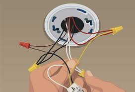 steps to install hard wired smoke and co alarms at the home depot 3 Sets Of Wires In One Outlet wire the alarm hard wired smoke co alarms