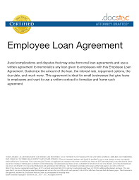Company Loan To Employee Agreement Pin On Real State