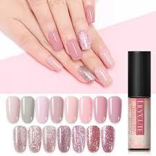 <b>LILYCUTE 5ml</b> Nail Gel Polish <b>Rose Gold</b> Pink Sequins Soak Off UV ...
