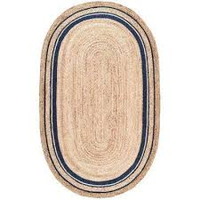 braided rikki border jute natural 5 ft x 8 ft oval area rug