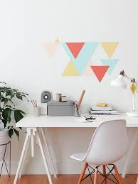 geometric wall paintMAKE THIS Eclectic Geometric Wall Pattern  Colorhouse