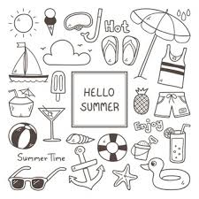 Summer Icon Set Vector Free Download