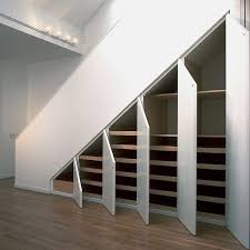 stairs furniture. simple version for under stairs storage this would totally work if we gutted the basement furniture