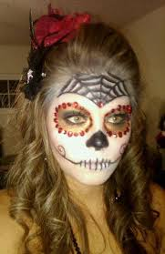 diy makeup sugar skull makeup loved the look but gotta be careful with what white you use d my stuff super itchy and very flaky