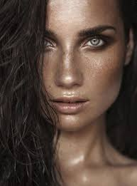 define your cheekbones with some subtle bronzer or use a bit of pink based blush along your cheeks to highlights those beautiful freckles