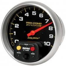 tachometers gauges car truck parts auto meter 6801 5in pro comp ii tach
