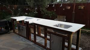 Steel Frame Outdoor Kitchen I Built An Outdoor Kitchen With A Concrete Counter Top Comments