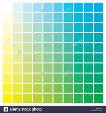 Cmyk Color Chart To Use In Prepress And Printing Used To