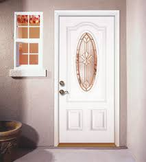 Wonderful White Residential Front Doors 34 Oval Medina Glass With Brass Caming Inside Concept Design