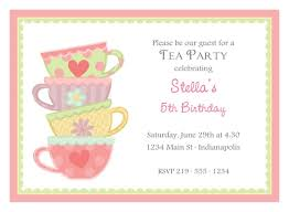 tea party invitations free template free afternoon tea party invitation template in 2019 high