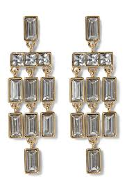 image of vince camuto faceted crystal statement chandelier earrings