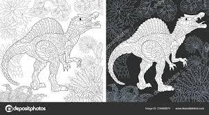 Kleurplaat Dinosaur Collectie Kleuren Van Foto Met Spinosaurus