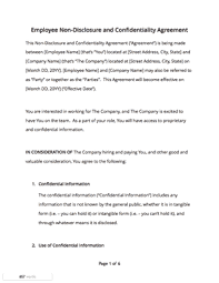 Non Disclosure Agreement Template Free Download Docsketch