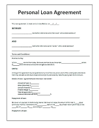 Loan Agreement Contract Sample Free Trejosco Mesmerizing Loan Repayment Contract Free Template