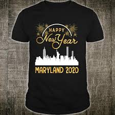 Happy New Year Shirt Design Fireworks Happy New Year Maryland 2020 The Year Of The Rat Shirt