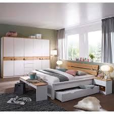 Schlafzimmer Komplettset Lionada In Weiß Kiefer Massiv 180x200 Cm Bett