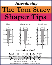 Oboe Shaper Tip Chart Thomas Stacy Music