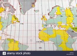 Atlantic Standard Time Zone Chart Stock Photo 15330578 Alamy