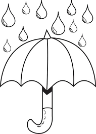 Small Picture Free Printable Umbrella with Raindrops Spring Coloring Page