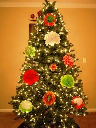 Paper Flower Christmas Tree How To Make Tissue Paper Flower Ornaments For Your Christmas Tree