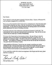 professional re mendation letter allen letter