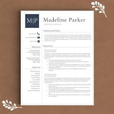 1 Page Resume Template Unique Professional Resume Template For Word 48 48 And 48 Page Resume