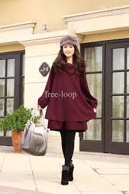 womens coats plus size clothing casual wool coat ponchos outerwear winter woollen coats 865