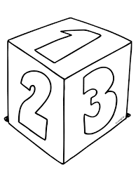 Kleurplaat Kubus Met Cijfers 1 2 3 Kleurplatennl