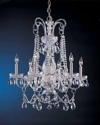 crystorama 1030 ch cl mwp traditional crystal 6 light crystal chandelier in polished chrome with clear