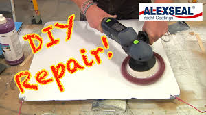 how to repair deep scratches on your boat using alexseal paint