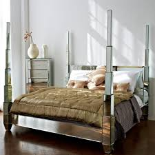 cheap mirrored bedroom furniture rectangle shape mirrored cabinets b purple wall paint color white wooden inexpensive nightstand brown white colors covered bedding sheets pillows storage books ideas 945x945