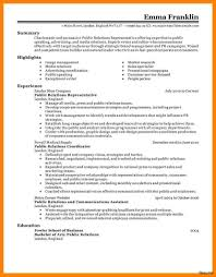 Pr Resume Examples Pr Resume Sample Resume For Study 42