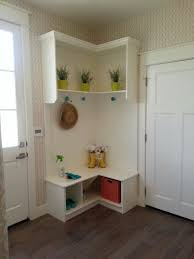 furnitureentryway bench shoe storage ideas. Furniture, Small White Wood Corner Mudroom Entryway Design With Indoor Plants And Vase Shelves Hat Furnitureentryway Bench Shoe Storage Ideas