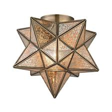 titan lighting moravian gold star flush mount
