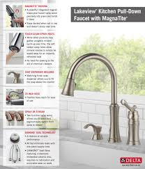 Delta Pull Down Kitchen Faucet Delta Lakeview Single Handle Pull Down Sprayer Kitchen Faucet With