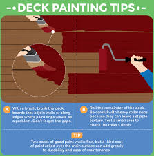tips for painting your deck