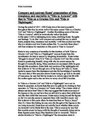 compare and contrast keats presentation of time transience and page 1 zoom in
