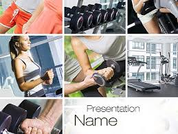 Fitness Collage Powerpoint Template Backgrounds 10704
