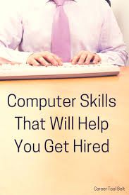 17 best images about employment skills computer skills that will help you get hired