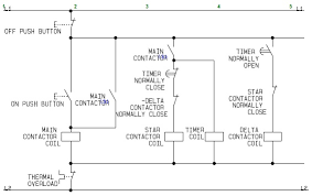 control circuit of a star delta or wye delta electric motor star delta control circuit wiring diagram