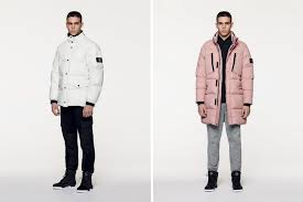photo of the stone island fall winter 2016 collection pink puffer