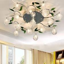 Modern Ceiling Lights Crystal LED Ceiling Light Fixture Flower Lamp Shade  Bedroom Balcony Lustre Luminaire Home
