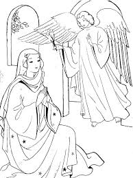Small Picture Angel Appears to Mary Coloring Page sunday school Pinterest