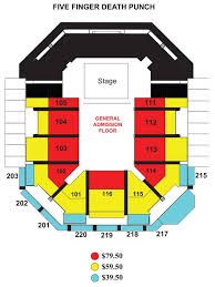 Union Bank And Trust Pavilion Seating Chart Five Finger Death Punch Chartway Arena Norfolk Virginia