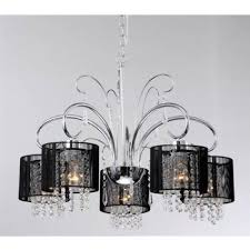 modern large chrome crystal chandelier